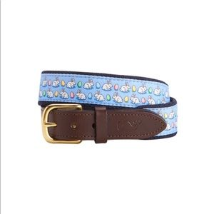Vineyard Vines belt, Bunny & Egg print, 28 inch